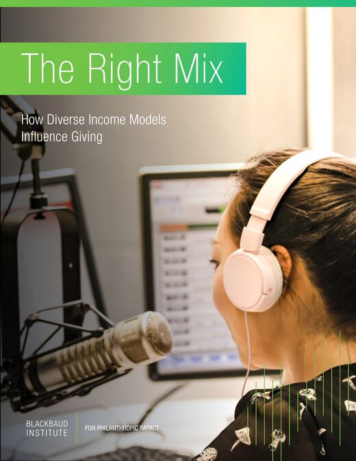 The Right Mix: How Diverse income Models Influence Giving