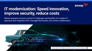 IT modernization: Speed innovation, improve security, reduce costs
