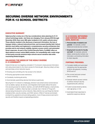Securing Diverse Network Environments For K-12 School Districts