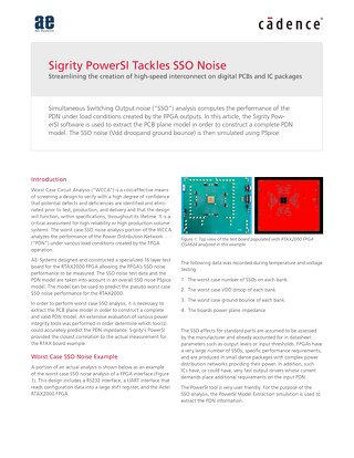 Sigrity PowerSI SSO Noise_2