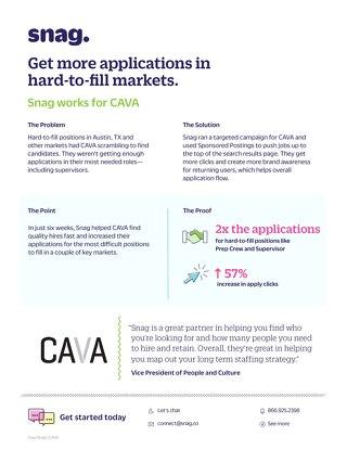 CAVA Case Study Results