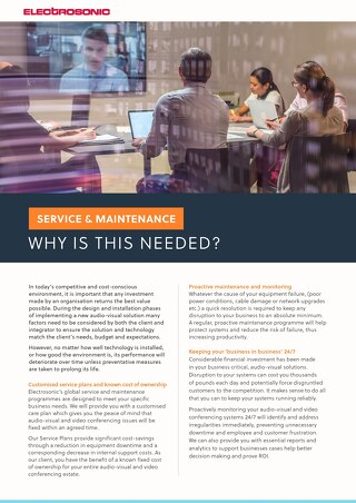 Service and Maintenance: Why is it Needed?
