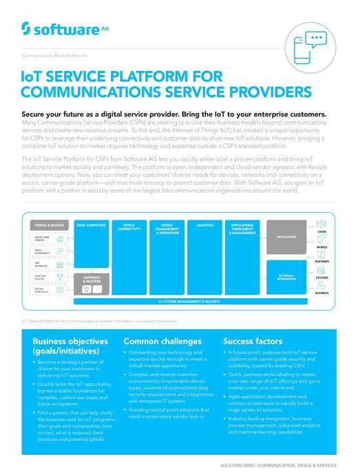 IoT SERVICE PLATFORM FOR CSPs