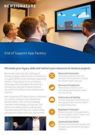 End of Support App Factory Flyer 2018 - UK