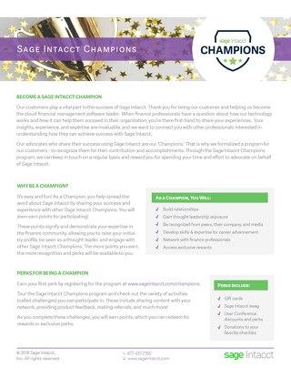 Sage Intacct Champions