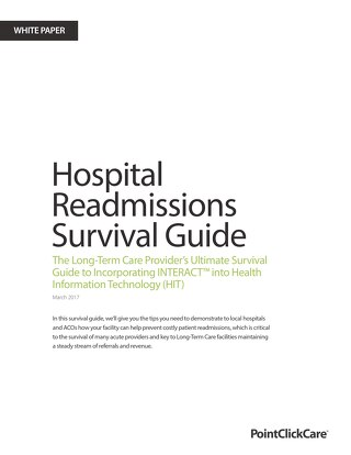 Hospital Readmissions Survival Guide