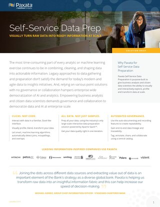 Paxata Self-Service Data Prep Solution Brief
