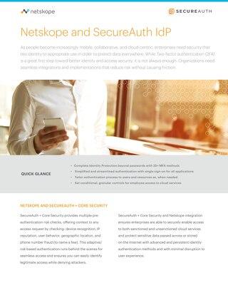 Netskope and SecureAuth IdP