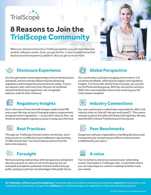 8 Reasons to Join TrialScope Community
