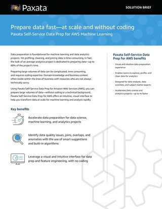 Partner Solution Brief: Paxata and AWS