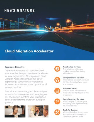 Cloud Migration Accelerator Flyer 2018