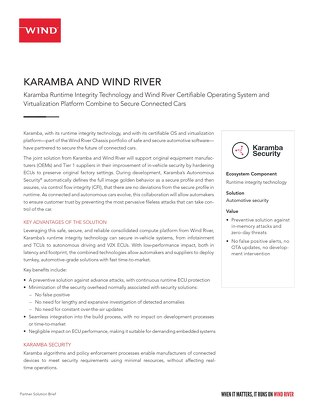 Karamba and Wind River