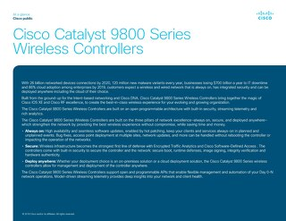 Catalyst 9800 At- a-Glance