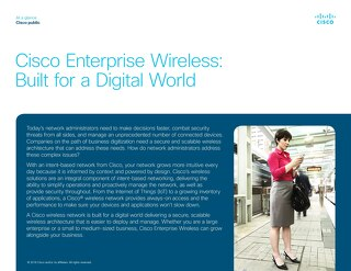 Cisco Enterprise Wireless: Built for a Digital World
