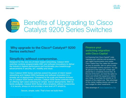 Benefits of Upgrading Cisco Catalyst 9200 Series Switches