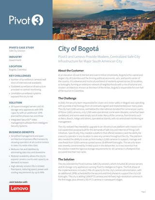 [Case Study] Providing Safe City Infrastructure for Bogota, Colombia