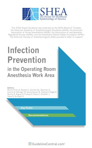 Anesthesia Infection in the Operating Room Anesthesia Work Area