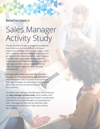 The SiriusDecisions Sales Manager Activity Study