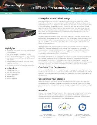 Data Sheet: IntelliFlash N-Series