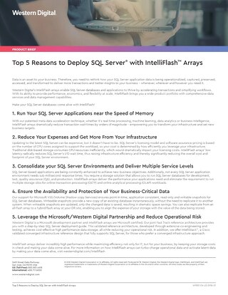 Top 5 Reasons to Deploy SQL Server with IntelliFlash