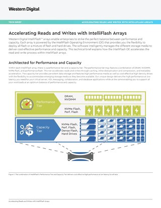 Accelerating Reads & Writes with IntelliFlash
