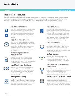 IntelliFlash Features