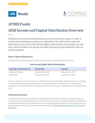 ATBIS Funds distributions overview 2018
