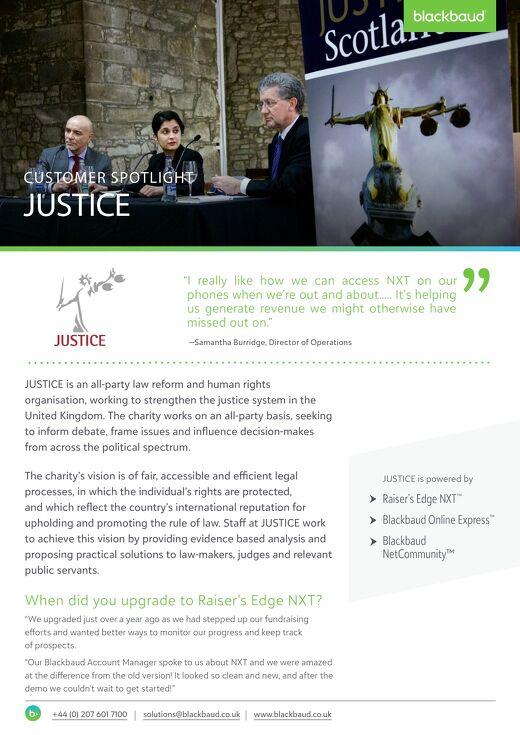 JUSTICE Customer Spotlight