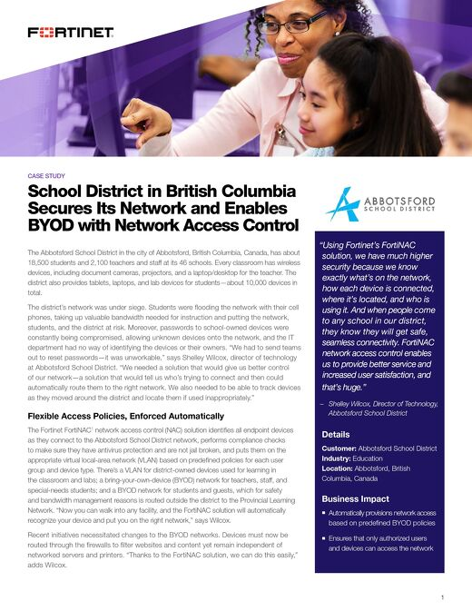 Abbotsford Secures Its Network & Enables BYOD With Network Access Control