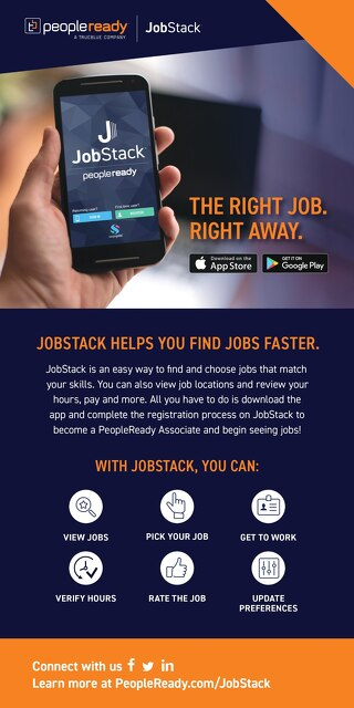 JobStack Associate Rack Card