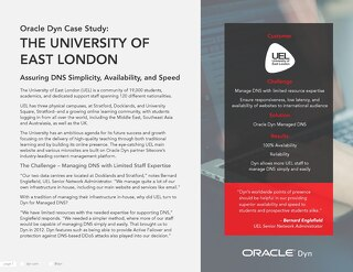 Case Study: University of East-London