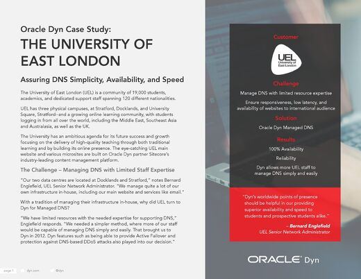 Case Study: University of East-London