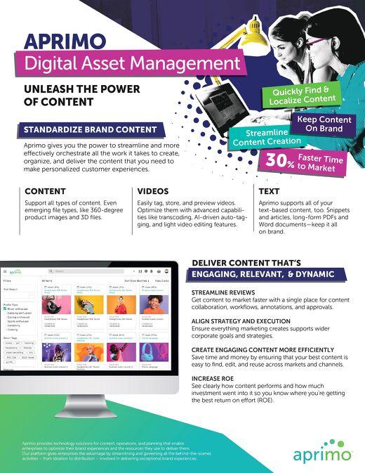Aprimo Digital Asset Management Product Data Sheet