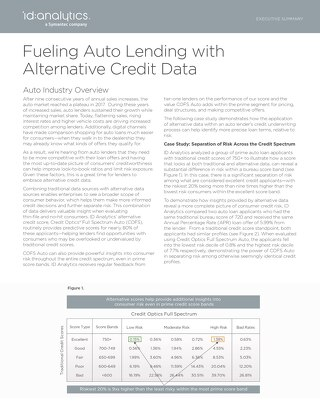 Fueling Auto Lending with Alternative Credit Data
