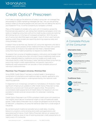 Credit Optics® Prescreen