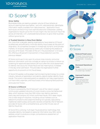 ID Score® 9.5