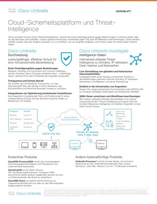Cisco Umbrella - Cloud-Sicherheitsplattform und Threat-Intelligence
