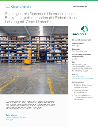 Cisco Umbrella Fallstudie: Prologis