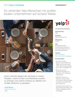 Cisco Umbrella Fallstudie: Yelp