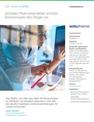 Cisco Umbrella Fallstudie: Octapharma