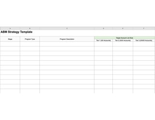 ABM Strategy Template
