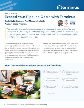 Terminus for Demand Generation