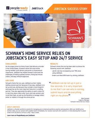 JobStack Case Study: Schwan's
