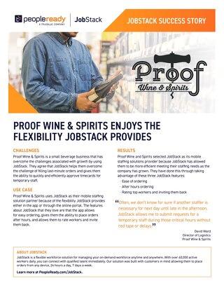 JobStack Case Study: Proof Wine & Spirits
