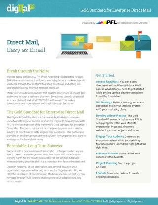 Gold Standard + PFL/ Direct Mail
