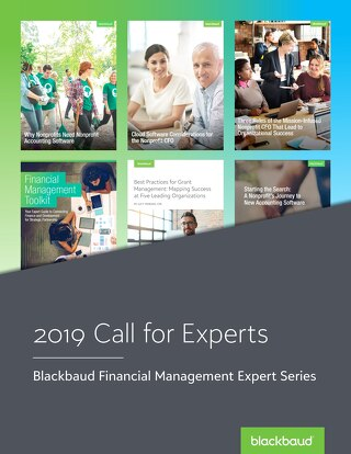 Call for Experts: Blackbaud Financial Management Expert Series
