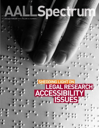 AALL Spectrum / January/February 2019 / Volume 23, Number 3