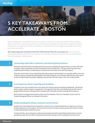 5 Key Takeaways From Accelerate-Boston