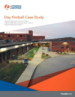 Day Kimball Hospital upgrades high-pressure sodium area lighting with Lithonia Lighting D-Series LED system to improve safety, reduce energy
