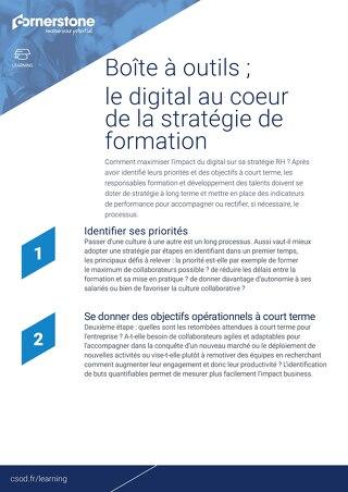 4 étapes essentielles - Pour réussir sa stratégie de formation digitale